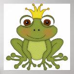 Märchen-Frosch-Prinz mit Krone Posterdruck