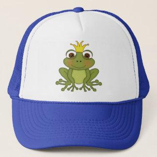 Märchen-Frosch-Prinz mit Krone Truckerkappe