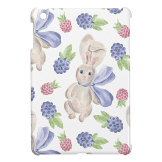 Märchen-Häschen mit Blumenmuster iPad Mini Hüllen