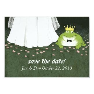 Märchen-Hochzeits-Frosch-Prinz Announcement 12,7 X 17,8 Cm Einladungskarte