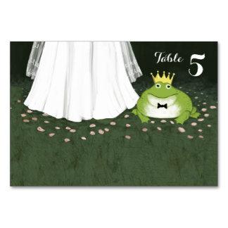 Märchen-Hochzeits-Frosch-Prinz Table Card