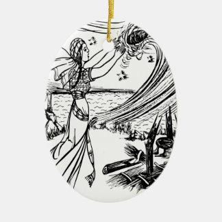 Märchen Keramik Ornament