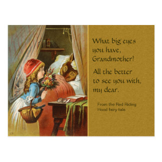 Märchen-Postkarte des Rotkäppchen-CC0204 Postkarte