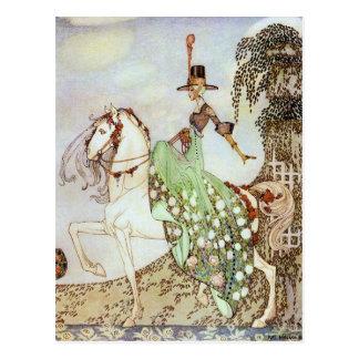 Märchen-Prinzessin Riding in die Weltpostkarte Postkarte