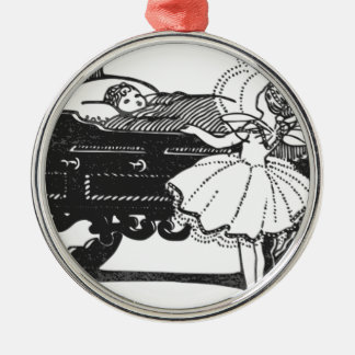 Märchen Rundes Silberfarbenes Ornament