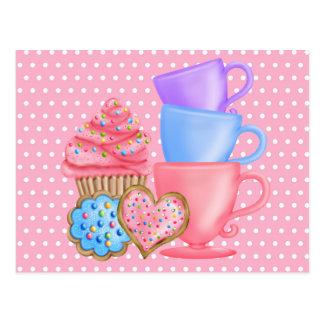 Märchenland-Geburtstags-Tee-Party Postkarte