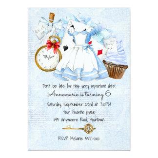 Märchenland in der blauen Geburtstags-Einladung Karte