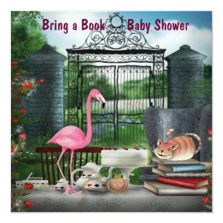 Märchenland-Tee-Party holen eine Buch-Baby-Dusche Quadratische 13,3 Cm Einladungskarte