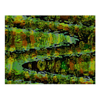 Märchenländer - dunkelgrüne Lagunen Postkarte