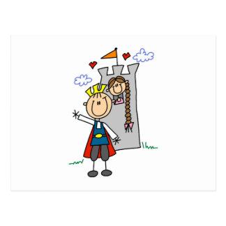 Märchenprinz-Rettungs-Prinzessin Postkarte