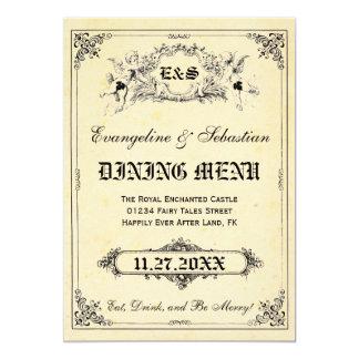 Märchenstorybook-Hochzeits-Menü-Karten 12,7 X 17,8 Cm Einladungskarte