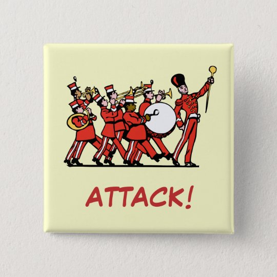 Marching Band Quadratischer Button 5,1 Cm