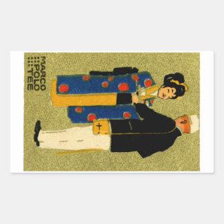 Marco Polo-Tee 1915 Rechteckiger Aufkleber