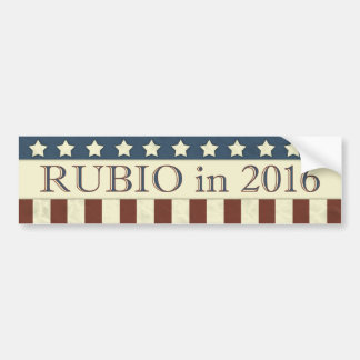 Marco Rubio Streifen Präsidenten-2016 Sterne Autoaufkleber