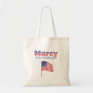 Marcy für Kongress-patriotische amerikanische Flag Tasche