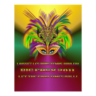Mardi-Gras-Mask-The-Queen-V-3 21,6 X 27,9 Cm Flyer