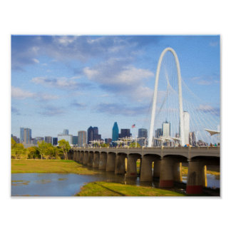 Margaret-Jagd-Brücke, Dallas, Texas Poster