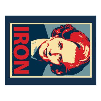 """Margaret Thatcher""""Eisen-"""" Postkarte"""