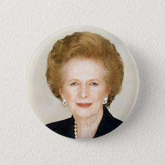 Margaret Thatcher Runder Button 5,7 Cm