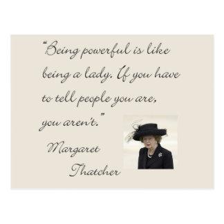 """Margaret Thatcher-Zitat """", das ist stark… """" Postkarte"""