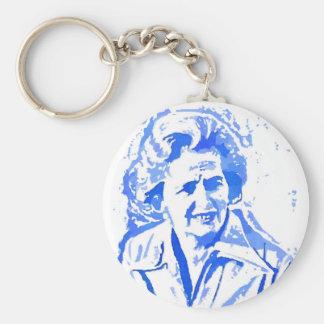 Margaret- ThatcherPop-Kunst-Porträt Schlüsselanhänger
