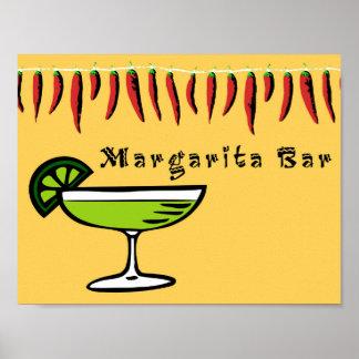 Margarita-Bar-Zeichen Poster