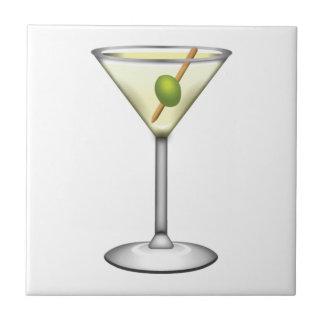 Margarita-Cocktail - Emoji Keramikfliese