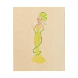 "Margarita""Cocktail-"" Kleid Holzdrucke"