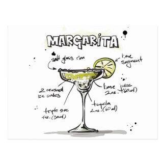Margarita-Getränk-Rezept-Entwurf Postkarte