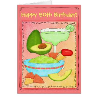 Margarita-Guacamole-glücklicher 50. Geburtstag Grußkarte