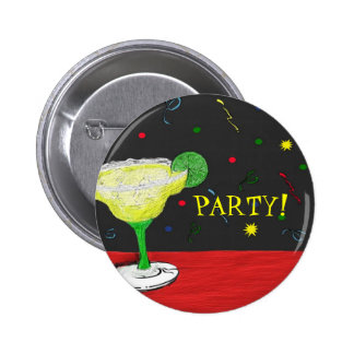 Margarita-Party-Knopf Runder Button 5,7 Cm
