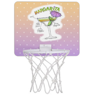 MARGARITA-REZEPT-COCKTAIL-KUNST MINI BASKETBALL RINGE