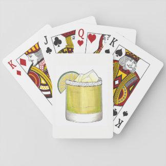 Margarita-Sommer-Cocktail-Mischgetränk-Limones Spielkarten