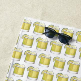 Margarita-Sommer-Cocktail-Mischgetränk-Limones Strandtuch