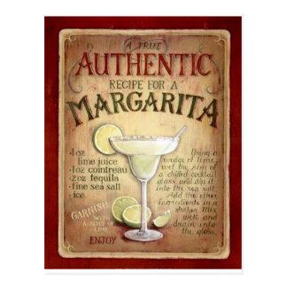 Margaritarezept Postkarte