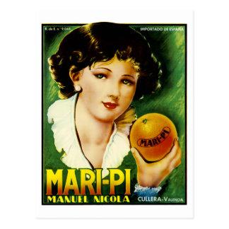 Mari-PU-Orangen Postkarte