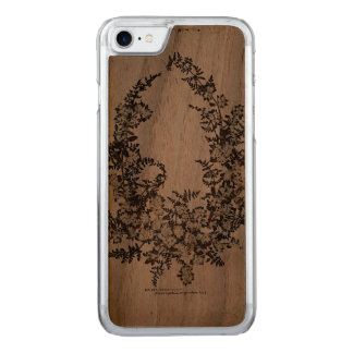 Maria-Blumen nehmen Walnuss iPhone 6 ab Carved iPhone 8/7 Hülle