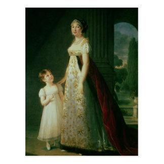 Maria Carolina Bonaparte, Königin von Neapel Postkarte