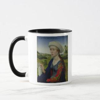 Maria Magdalena, von der rechten Platte Tasse