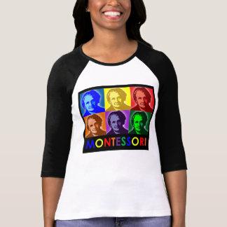 Maria Montessori Pop-Kunst Drei-Viertel T - Shirt