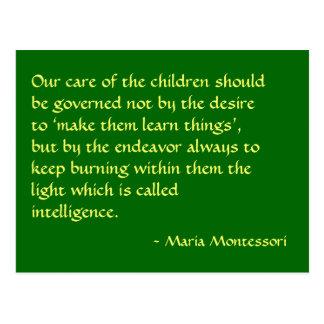 Maria Montessori-Zitat-Nr. 1-Postkarte Postkarte
