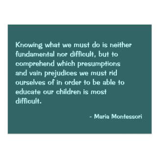 Maria Montessori-Zitat-Nr. 2-Postkarte Postkarte