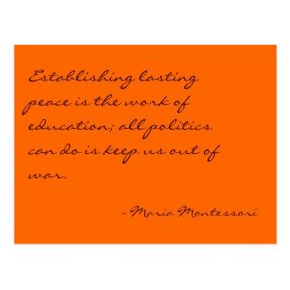 Maria Montessori-Zitat-Nr. 3-Postkarte Postkarte