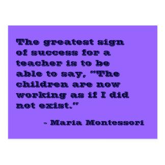 Maria Montessori-Zitat-Nr. 5-Postkarte Postkarte
