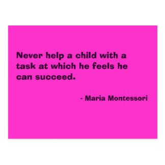 Maria Montessori-Zitat-Nr. 6-Postkarte Postkarte