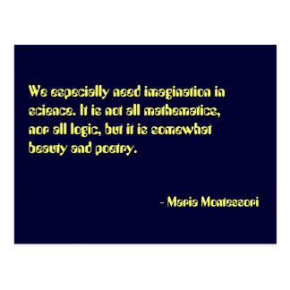 Maria Montessori-Zitat-Nr. 7-Postkarte Postkarte