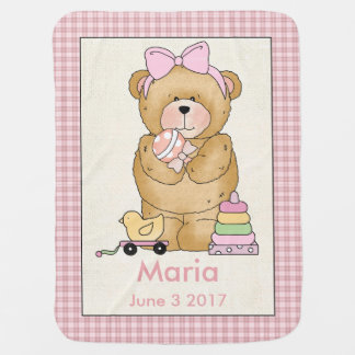 Maria personalisierte Baby-Bärn-Decke Puckdecke