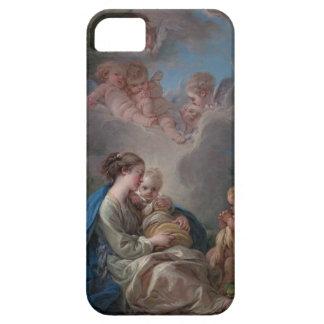 Maria und Kind - François Boucher iPhone 5 Hüllen