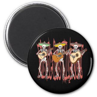 Mariachi-Skelett-Trio Runder Magnet 5,1 Cm