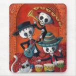 Mariachi-Trio Dia de Los Muertos Skeleton Mauspads